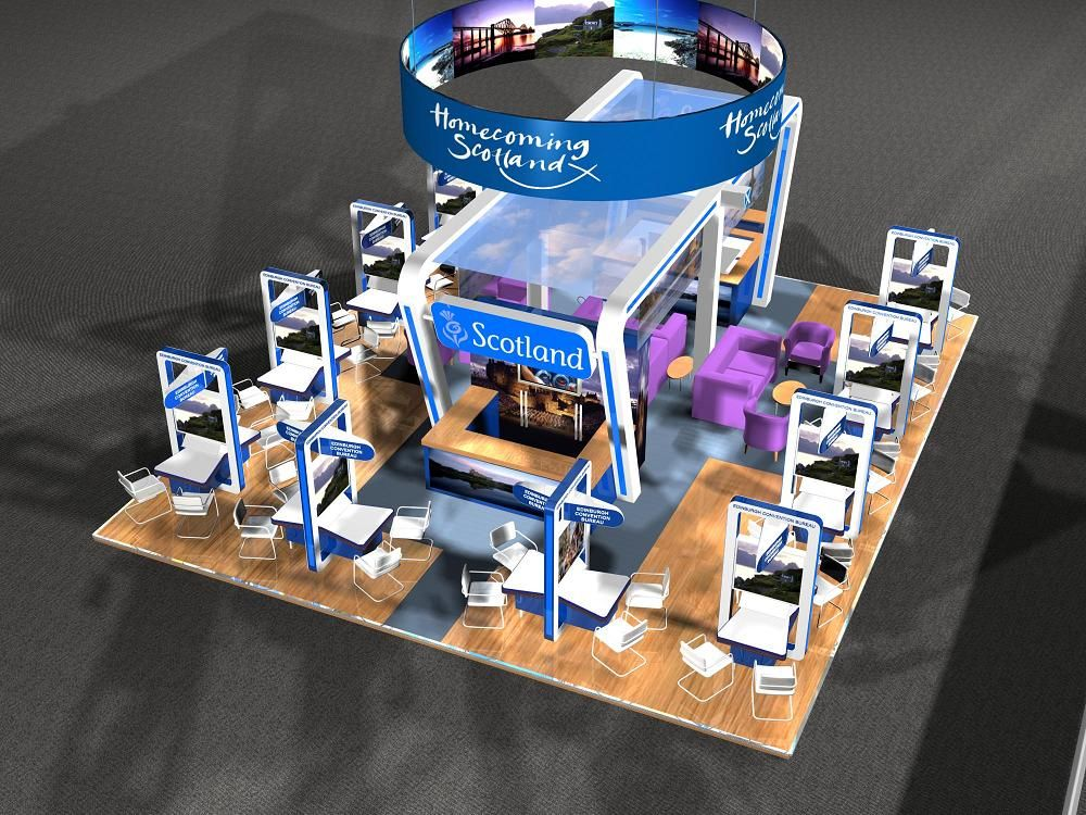 Exhibition Stand Design Scotland : Exhibition stand design designs created by dd