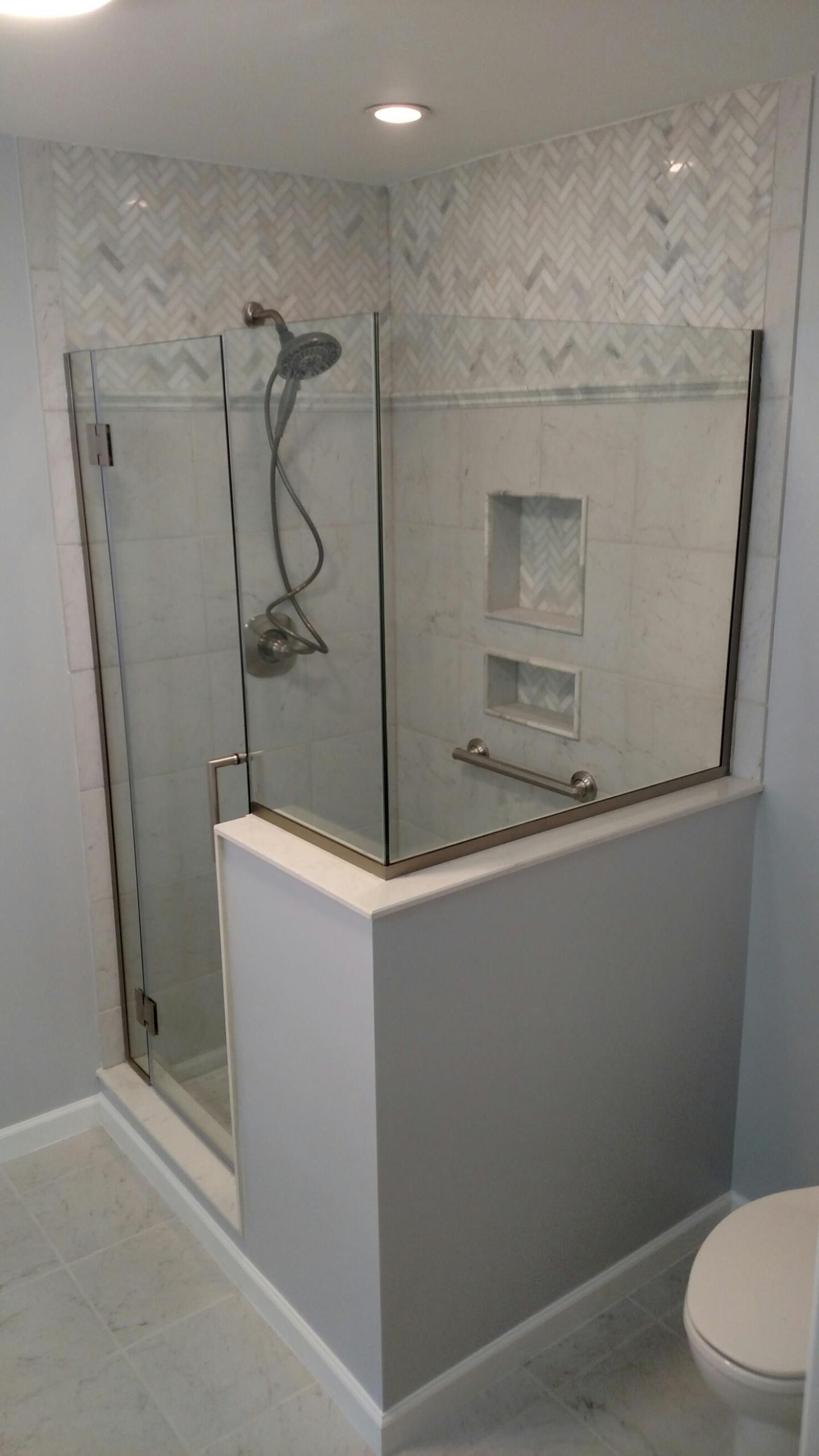 Custom Shower And Full Bathroom Remodelglass Showertile Fascinating Maryland Bathroom Remodeling Design Decoration