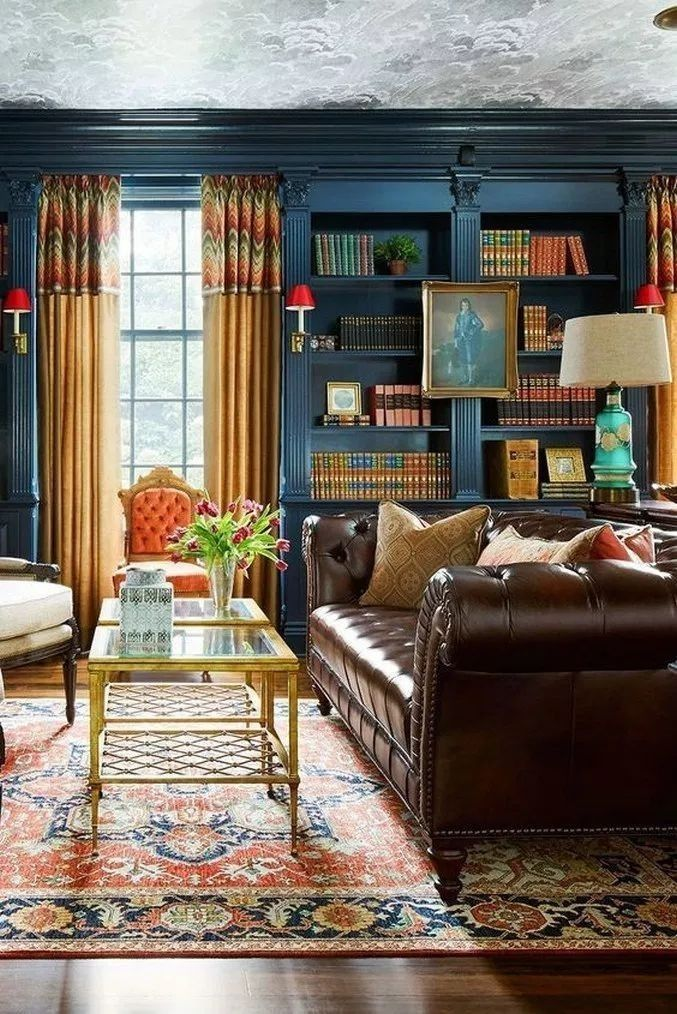 relaxing large living room decorating ideas 00001  brown