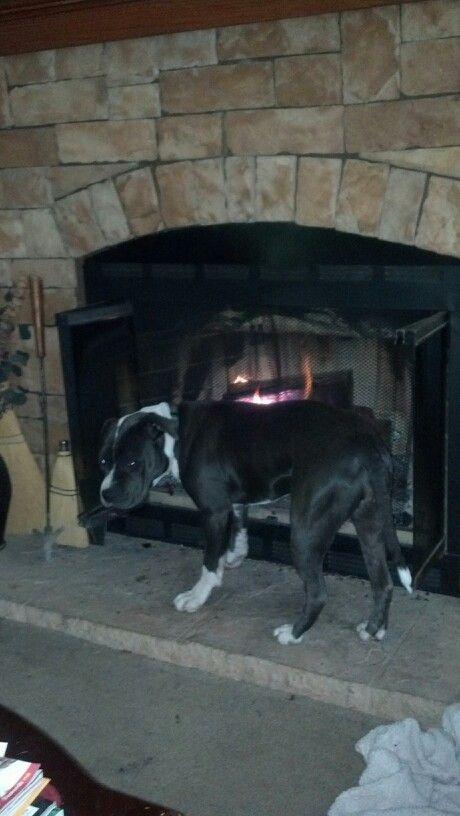 She luvs the fire.