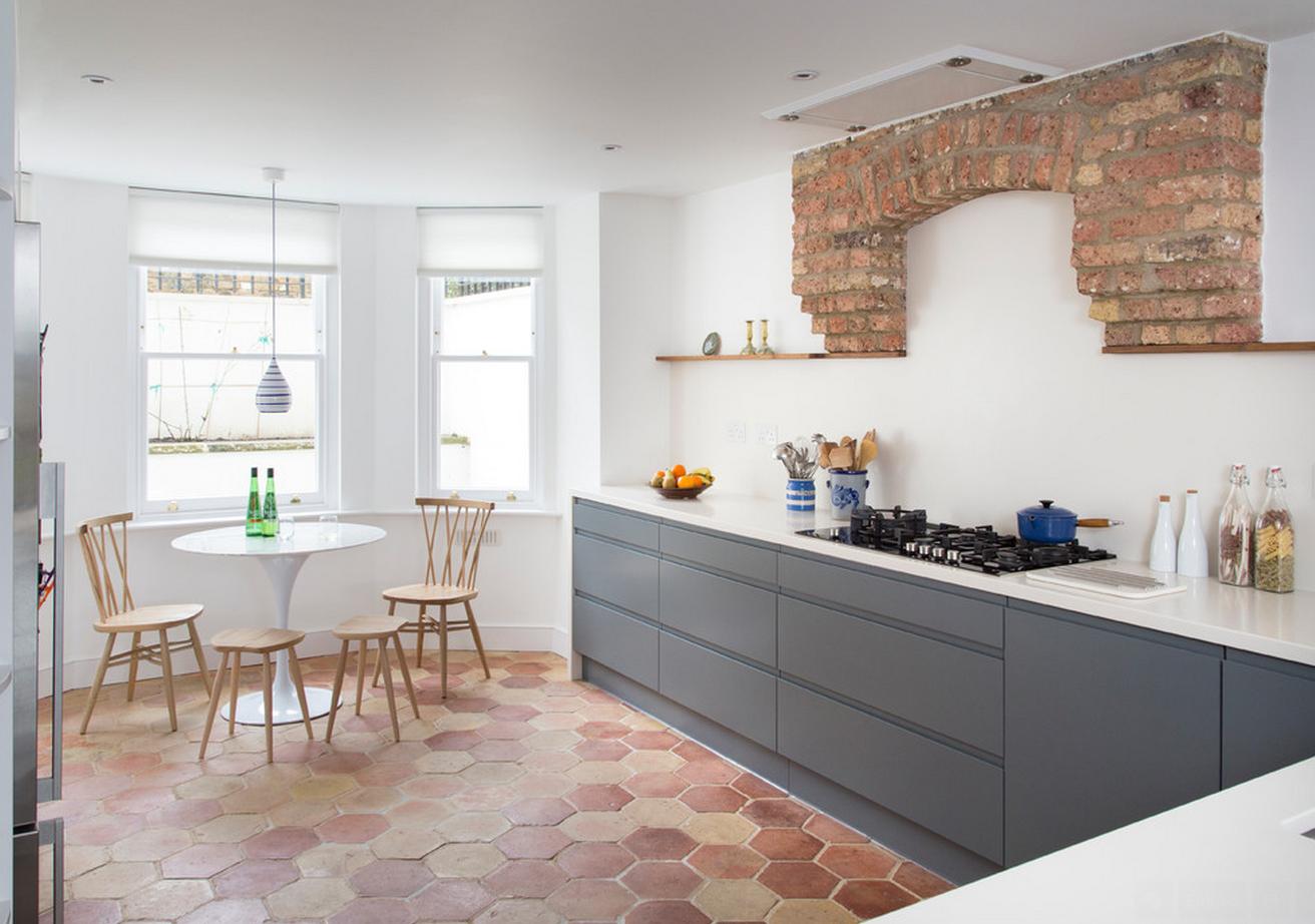 Modern Concept Apartment Kitchen In London Interior Exterior - Terre cuite carrelage pour idees de deco de cuisine