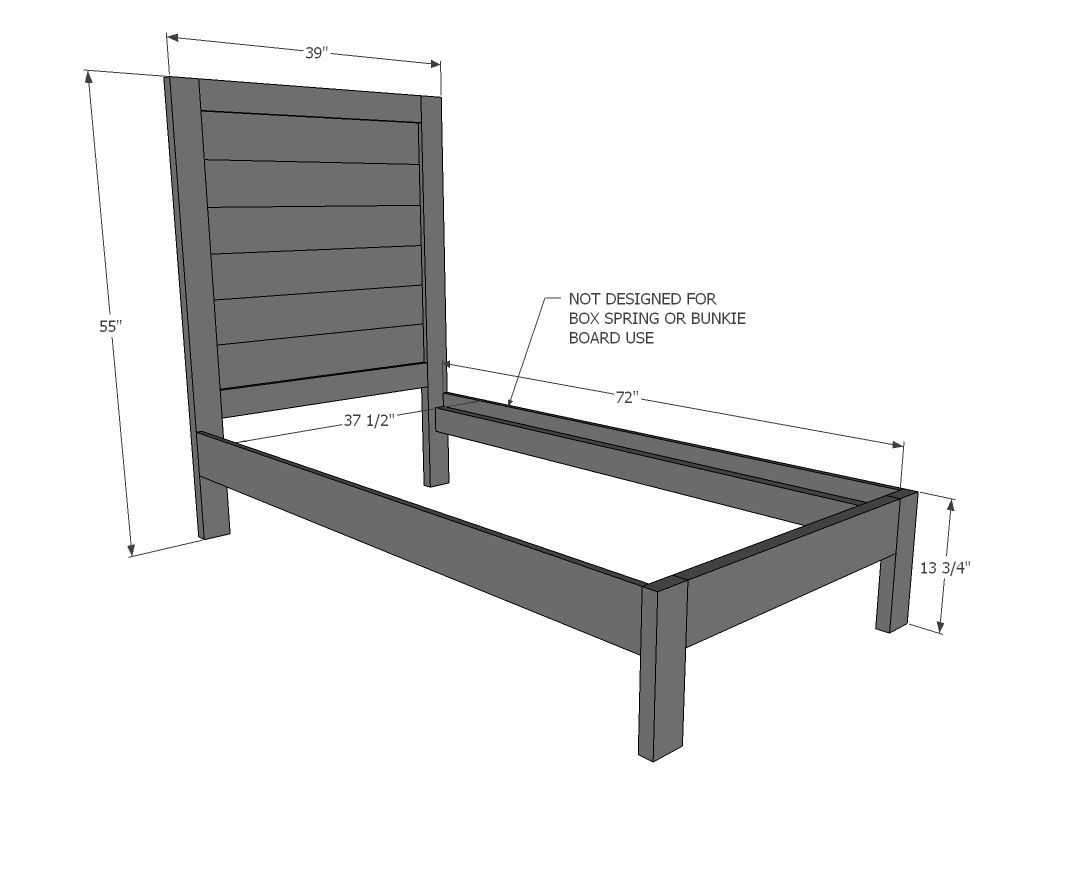 Best Simple Planked Wood Bed Diy Bed Diy Twin Bed Frame 400 x 300