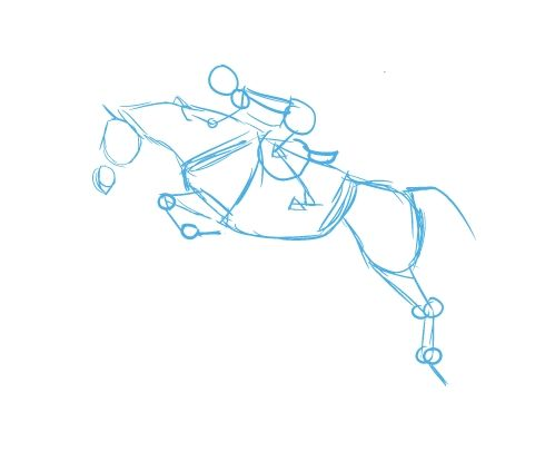Live laugh ride how to draw a jumping horse drawinghow tos live laugh ride how to draw a jumping horse ccuart Gallery