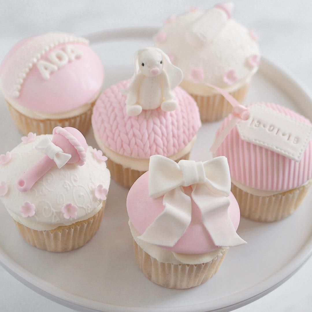Loved Making These Cute Pink White Bunny Themed Cupcakes To