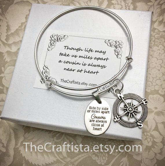 cousin bracelet cousins bangle Cousin charm bracelet gift best cousin present