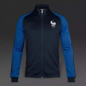 super popular 3b99f 3118c 2016 France National Team Classics Blue Jacket [E694 ...