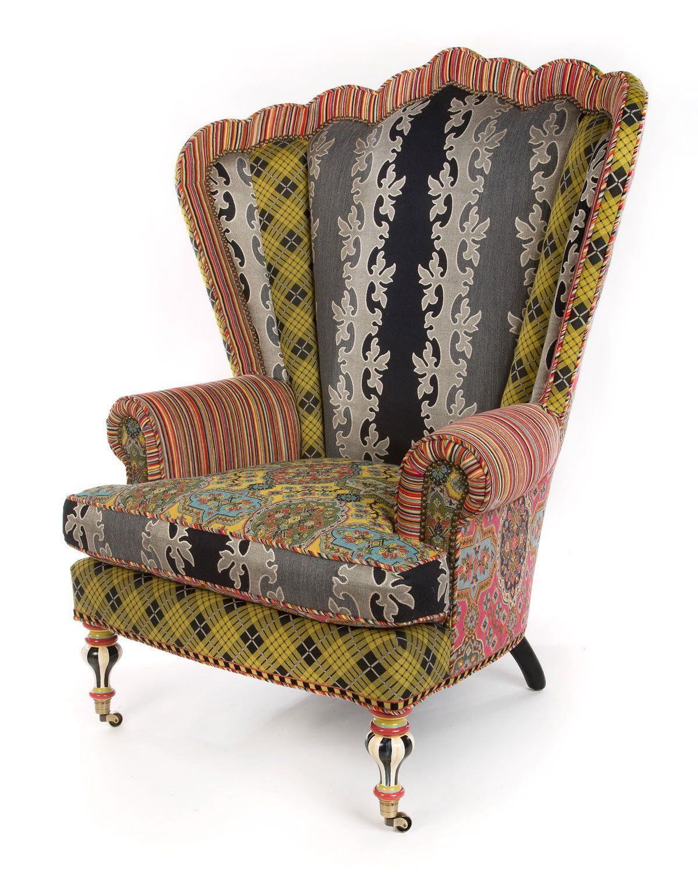 Mackenzie childs kensington wing chair