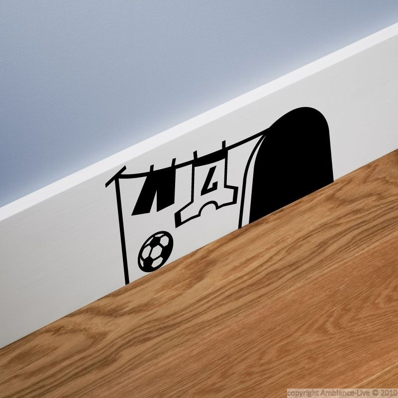 Sticker Trou De Souris Avec Le Football Wall Art Pinterest