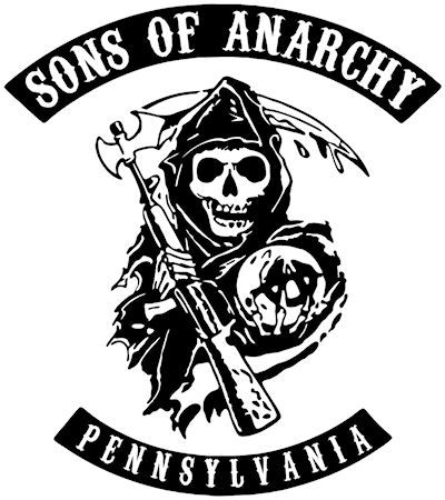 Sons of anarchy logo pittsburgh pennsylvania pennsylvania sons of anarchy decal sticker