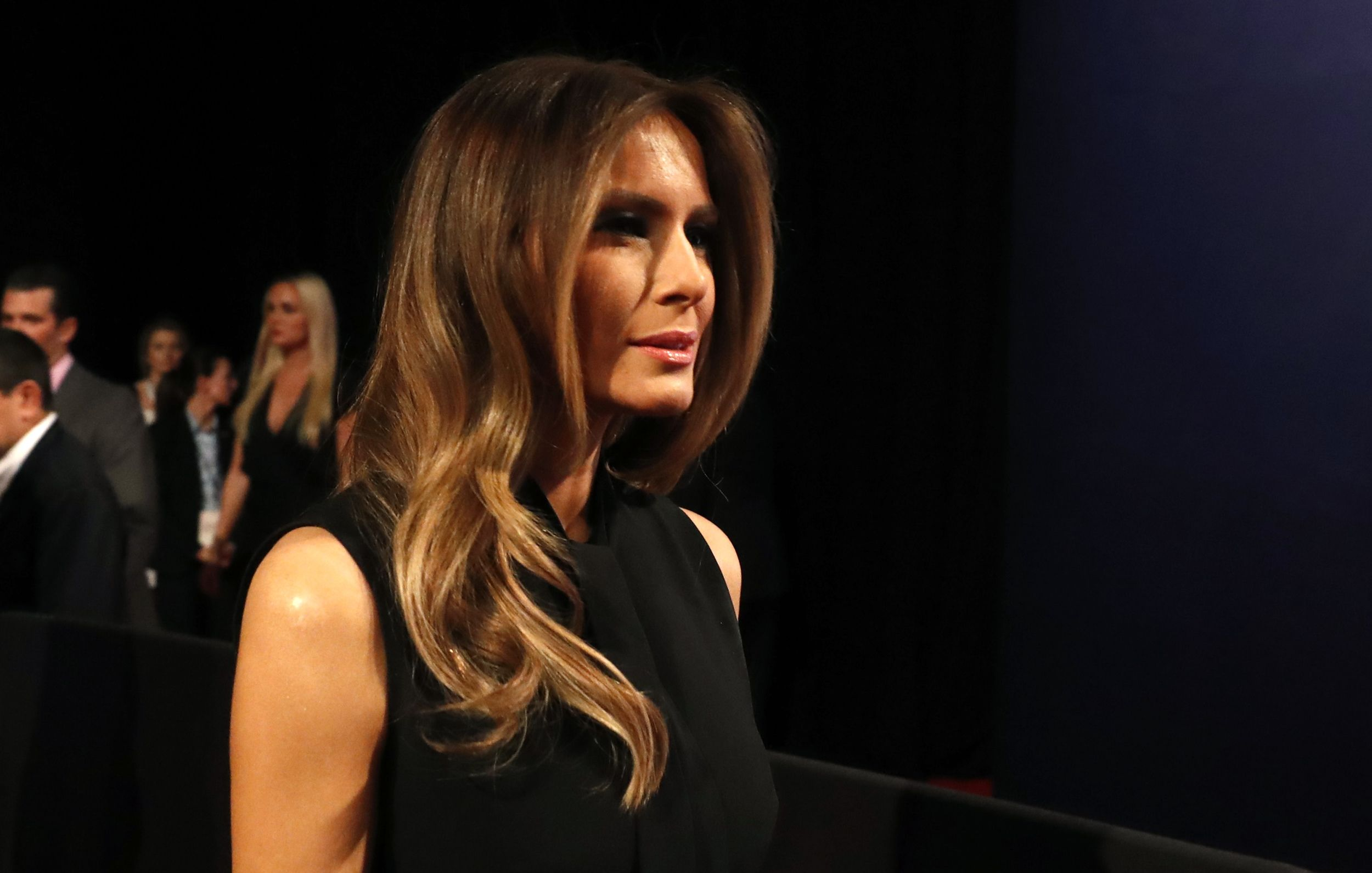 Melania Trump arrives for the third and final debate between Republican U.S. presidential nominee Donald Trump and Democratic nominee Hillary Clinton at UNLV in Las Vegas, Nevada, U.S., October 19, 2016. REUTERS/Carlos Barria via @AOL_Lifestyle Read more: http://www.aol.com/article/news/2016/10/24/donald-trump-just-got-some-of-his-best-polling-news-in-weeks/21590934/?a_dgi=aolshare_pinterest#fullscreen