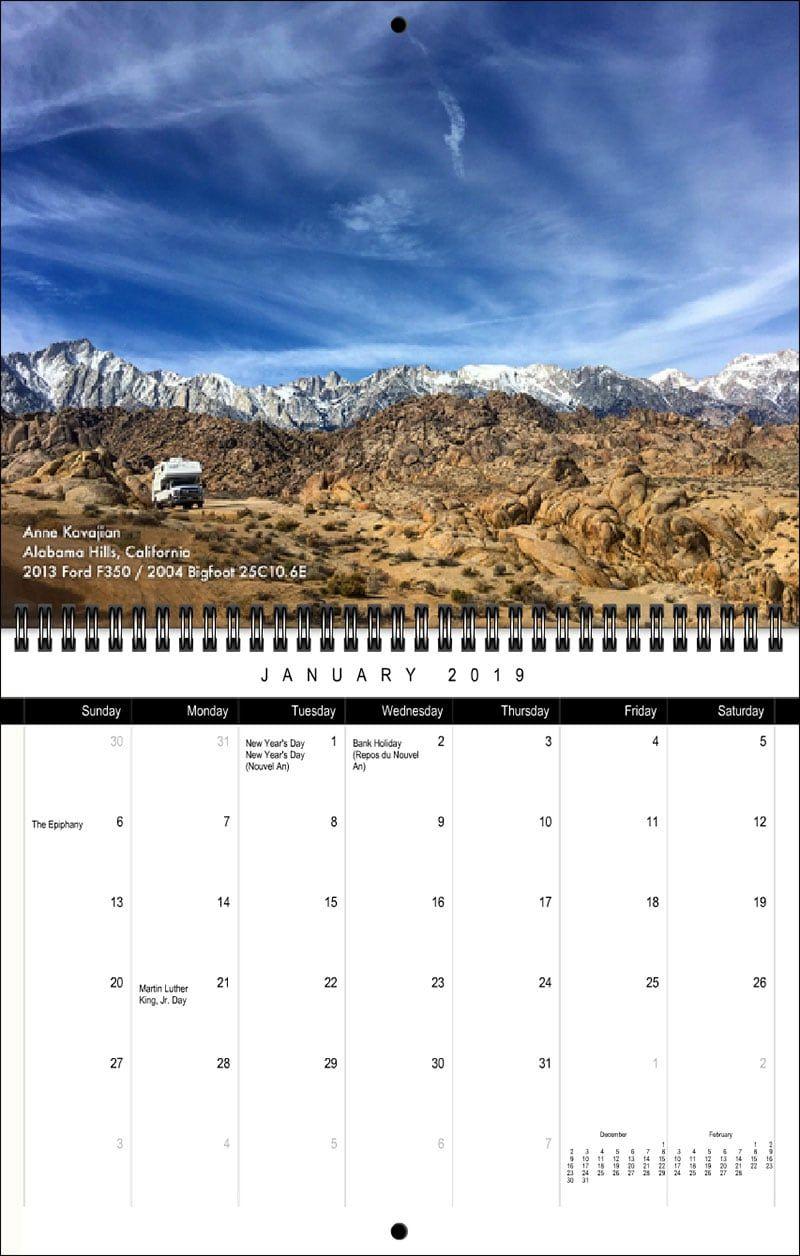 On Sale Now 2019 Truck Camper Magazine Calendar Truck Camper