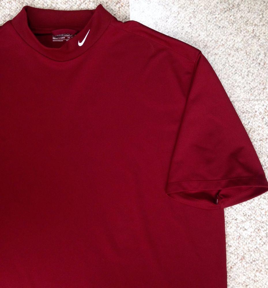 d8507efbe Mens(XXL) NIKE GOLF MOCK TURTLENECK T-SHIRT Maroon Short-Sleeve Undershirt  EUC! #NikeGolf #ShirtsTops
