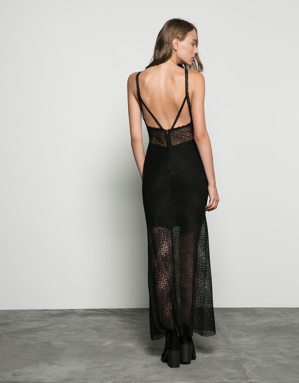 Bershka Long Lace Dress