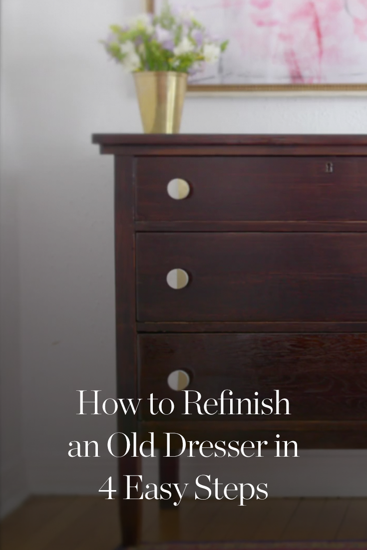 How To Refinish An Old Dresser In 4 Easy Steps Old Dressers