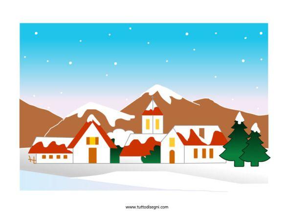 Paesaggio invernale illustrazioni in bianco e nero e for Paesaggio invernale disegno