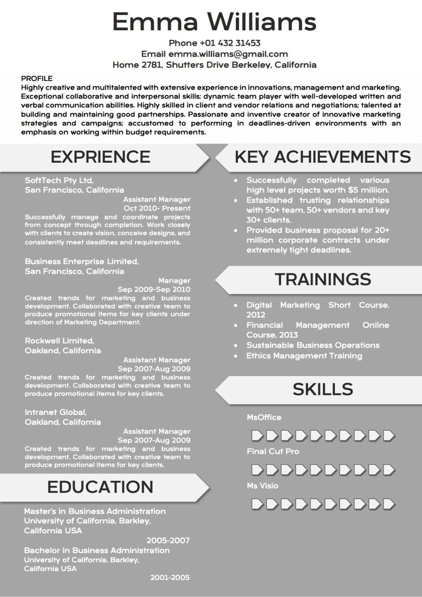 Creative Modern Resume Word Template Format   Word Resume Templates ...