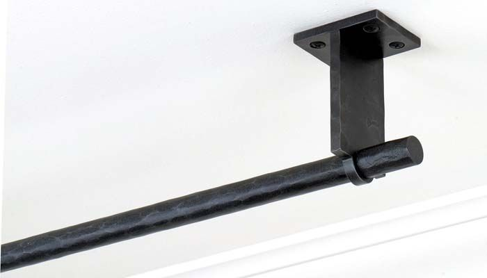 Ceiling Curtain Rods Wrought Iron Curtain Rods Ceiling Mounted