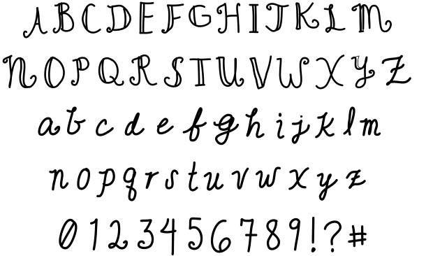 Cute Writing Font
