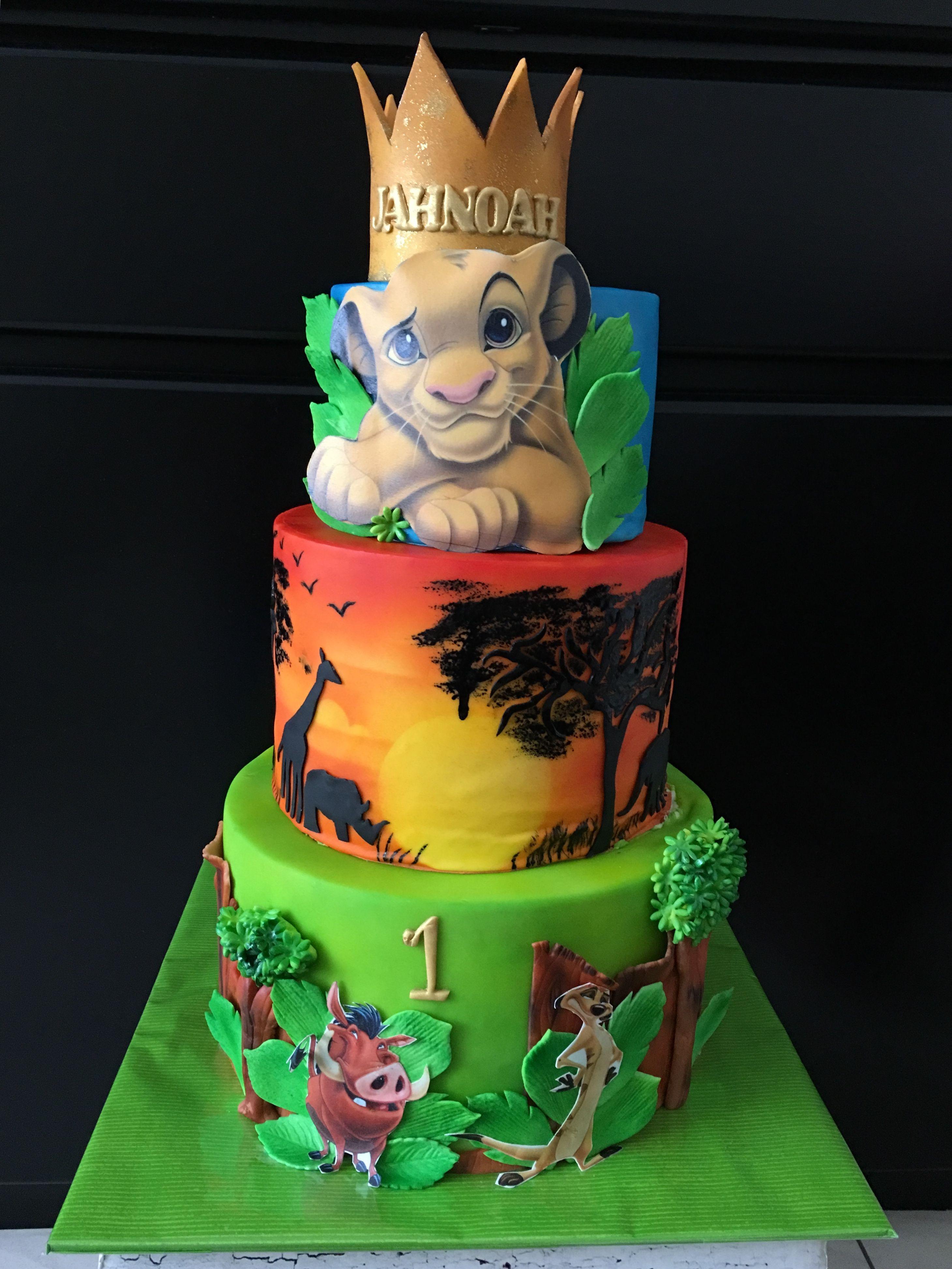 Outstanding Lion King Cake Birthday Nicheh Funny Birthday Cards Online Necthendildamsfinfo