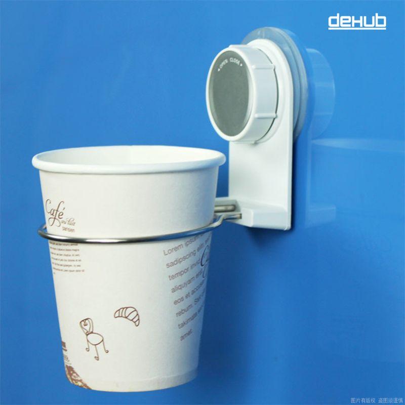 Dehub Suction Cup Plastic Cup Holder Creative Mug Holder Bathroom Cup Holder Stainless Steel Bathroom Set With Creative Mug Holder Bathroom Sets Towel Hangers For Bathroom
