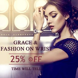 25% off, Grace and Fashion on Wrist