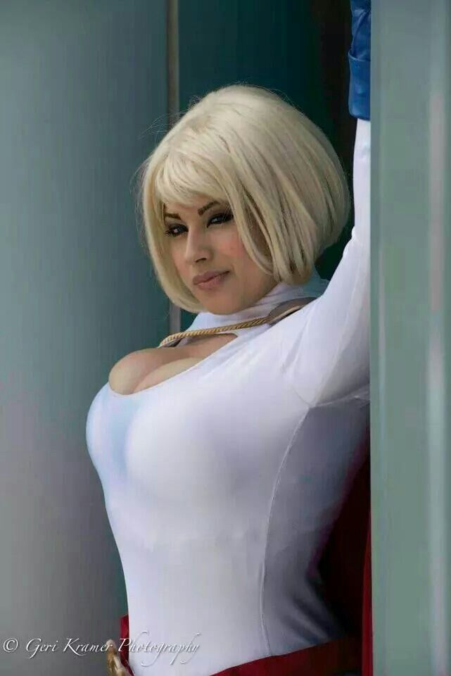 power girl cosplay tits