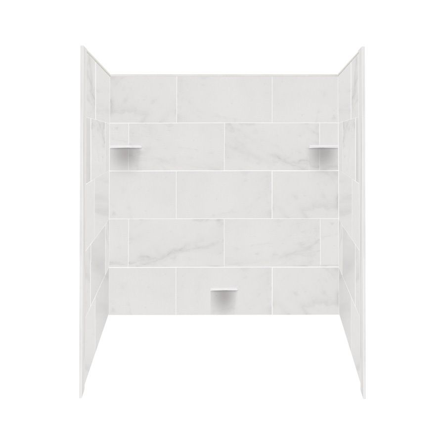 Style Selections Solid Surface Bathtub Wall Surround (Common: 32-in ...