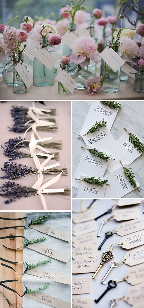 Ideas originales para colocar los nombres de los invitados en las bodas decorar con flores - Ideas originales para decorar ...