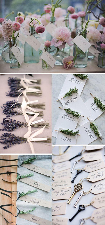 90ac2fd0c5d66 Ideas originales para colocar los nombres de los invitados en las bodas