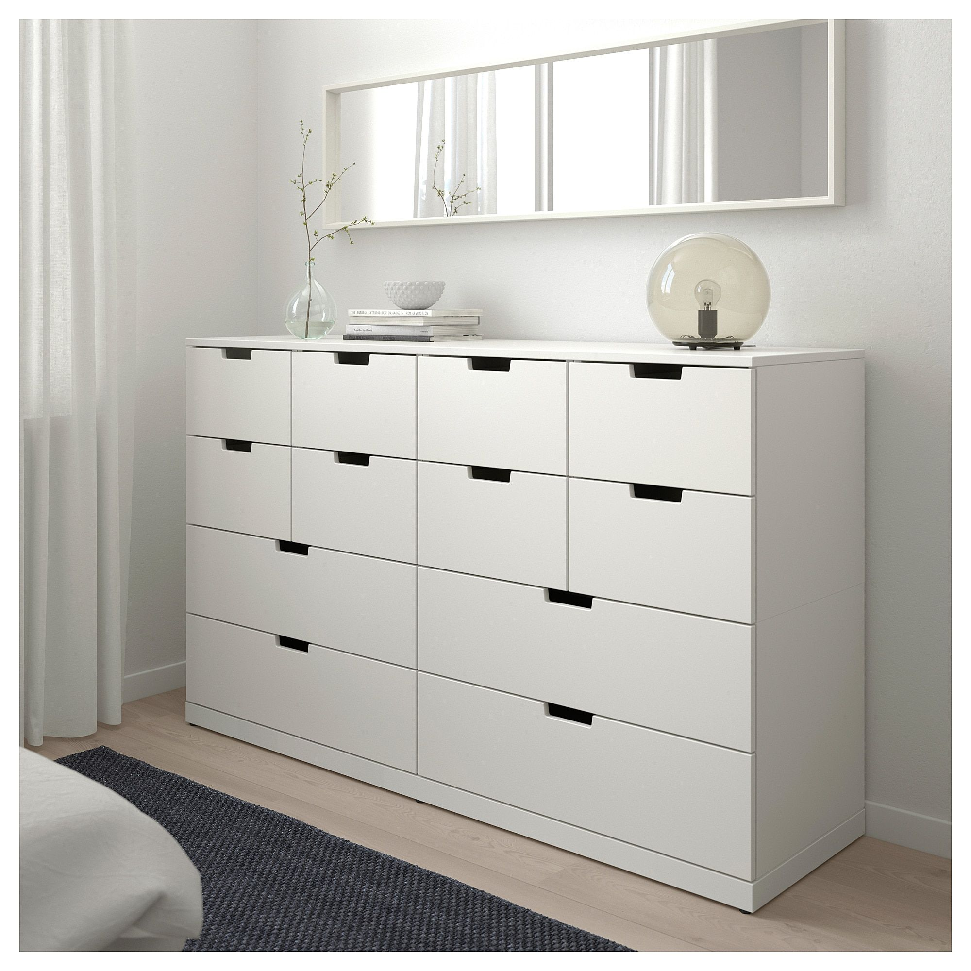 12 Drawer Chest Of Drawers Nordli 12 Drawer Chest White Design Nurseries White Chests