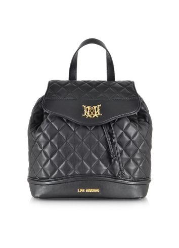 Moschino Love Moschino Quilted Eco Leather Backpack