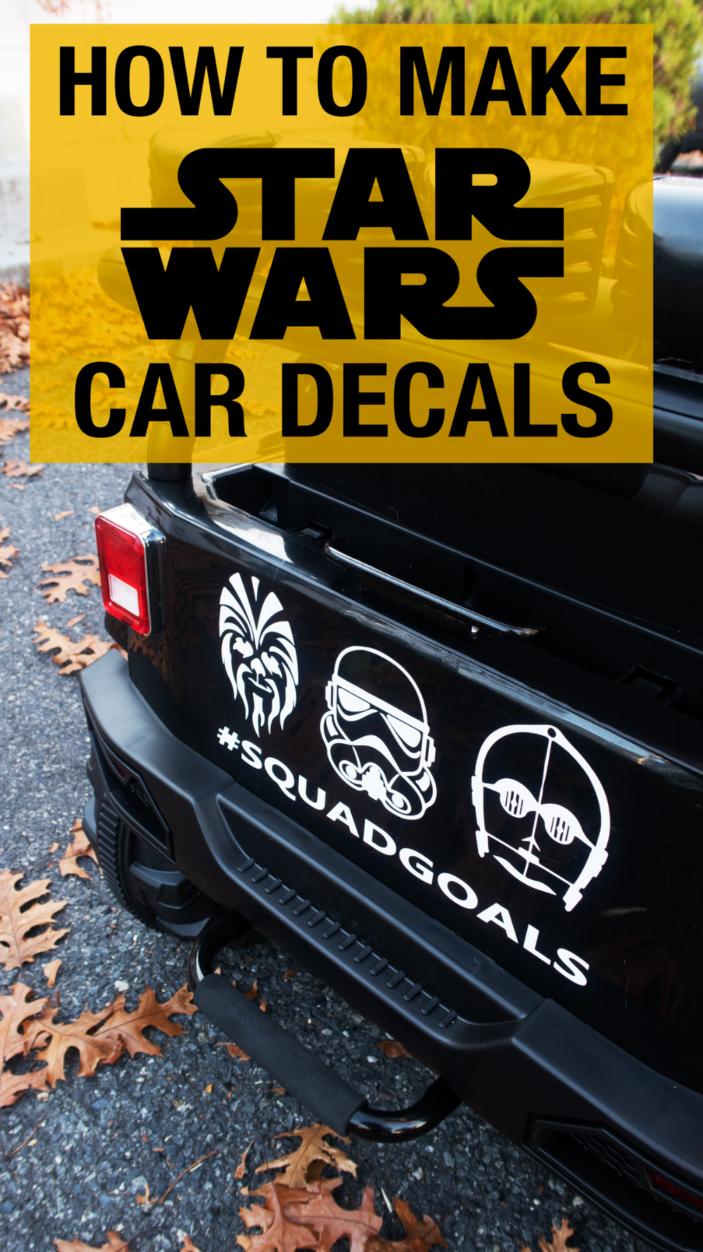 How To Add Star Wars Decals To A Kids Jeep Kids Jeep Star Wars Decal Jeep [ 1781 x 1000 Pixel ]