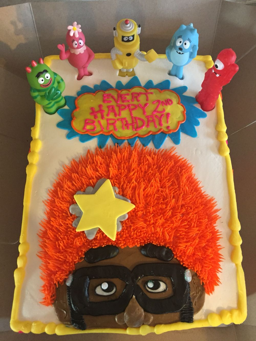 Outstanding Yo Gabba Gabba Birthday Cake Dj Lance Rock With Images Party Funny Birthday Cards Online Inifofree Goldxyz