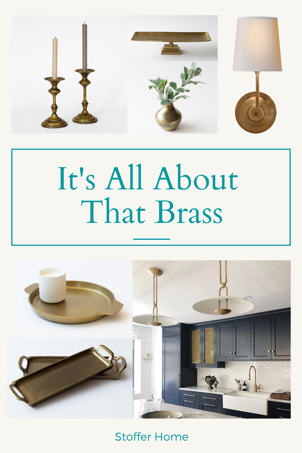 If you are looking for ideas and inspiration to add touches of luxury and brass to your home, look no further. Stoffer Home has so many pretty accessories, decor and light fixture to add that timeless warmth to your home through these brass pieces. #brass #brassdecor #homedecor #luxuryhomedecor #brassaccessories #homeaccessories #brassinspiration #homeinspiration #stofferhome #affiliate
