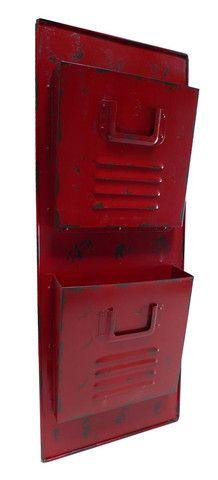 Red Wall Locker Metal Mail Holder Mail Organizer Wall Wall File Holder Mail Holder Wall
