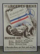 Poster Großer Preis Von Frankreich 1938 Sieg Für Mercedes M Von