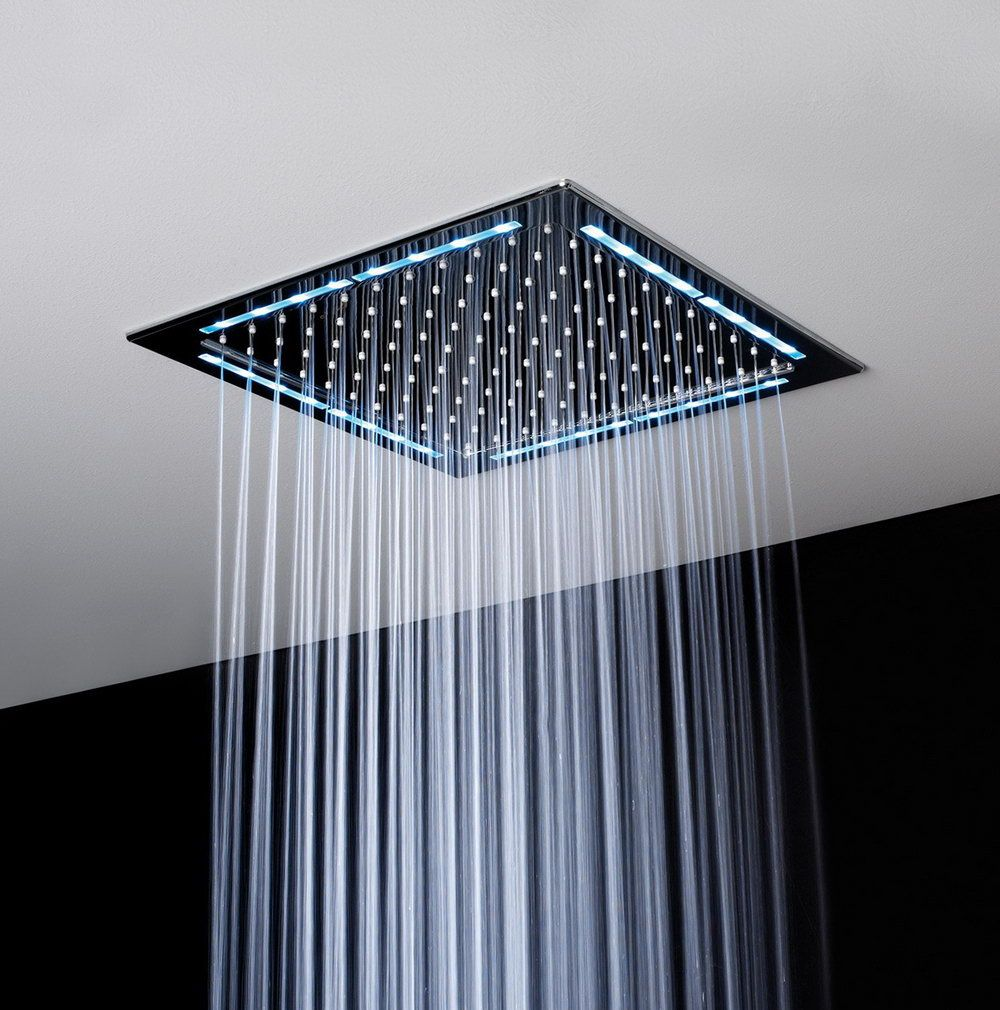 Flush Mount Rain Shower Head | Bath | Pinterest | Rain shower ...