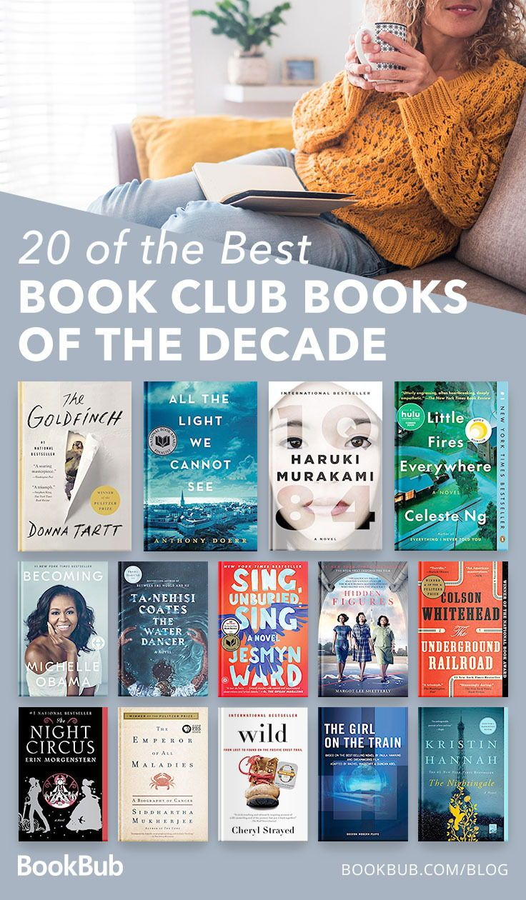 20 of the Best Book Club Books of the Decade is part of Book club books, Best book club books, Books, Books for teens, Book club, Reading list challenge - From memoirs to thrillers and everything in between!