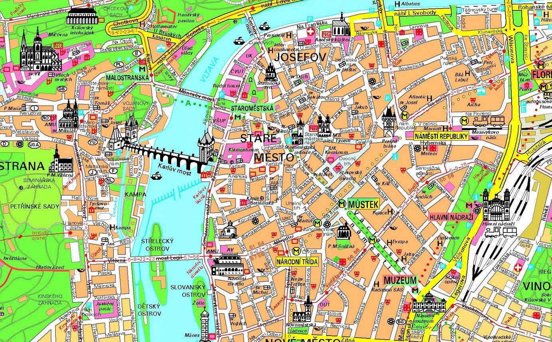 praga mapa Mapa turístico de Praga | prague | Pinterest | Prague and Wanderlust praga mapa