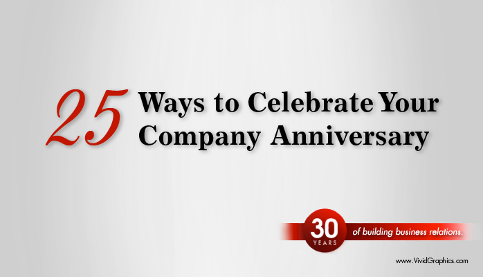 25th anniversary business celebration ideas