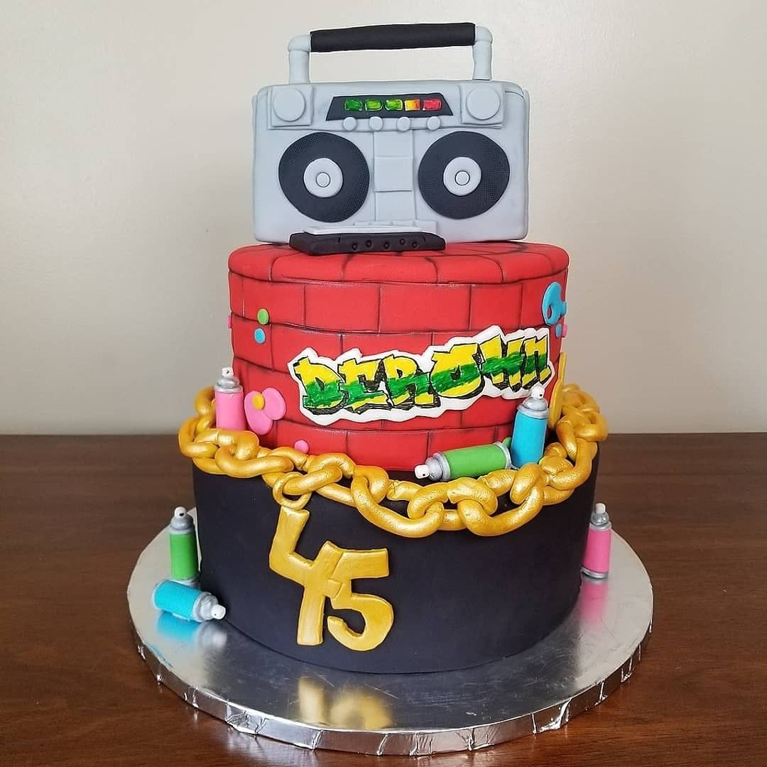 90s hiphop themed Birthday Cake Hip hop birthday cake