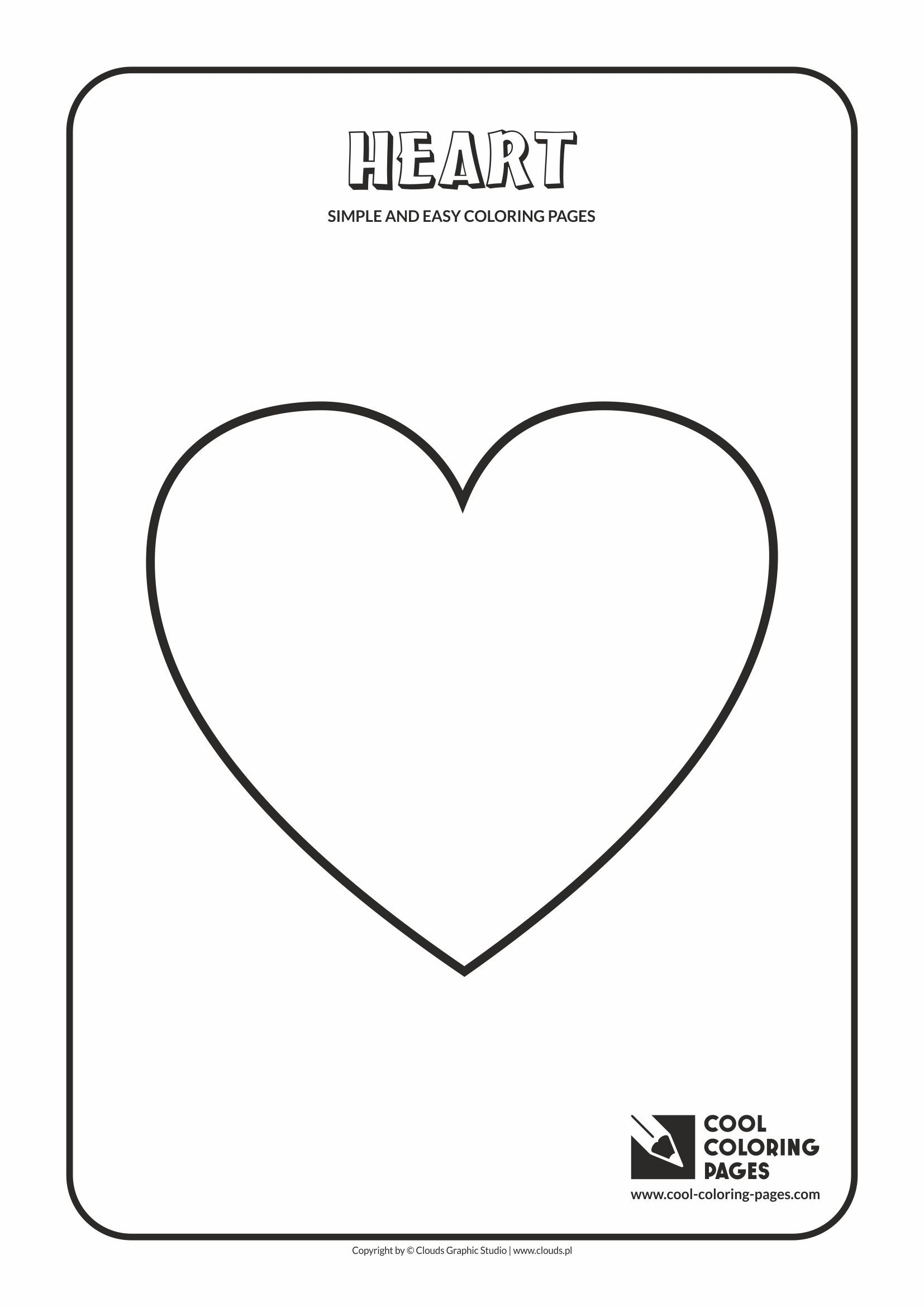 - Simple And Easy Coloring Pages - Heart Easy Coloring Pages, Cool