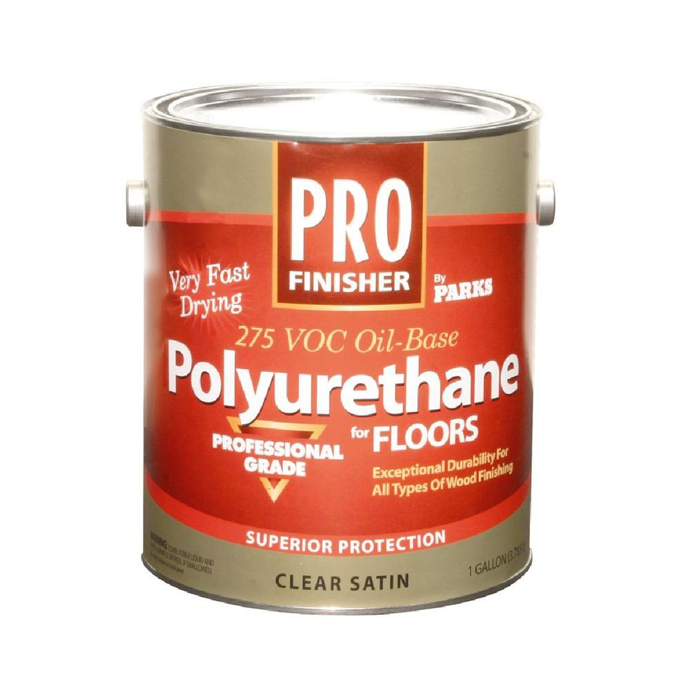 Rust Oleum Parks Pro Finisher 1 Gal Clear Satin 275 Voc Oil Based Polyurethane For Floors 4 Pack Polyurethane Floors Flooring Rust