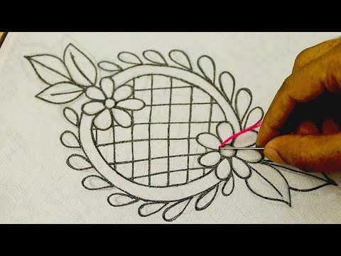 Photo of Hand embroidery: Brazilian embroidery sample flower sample, Butta design embroidery