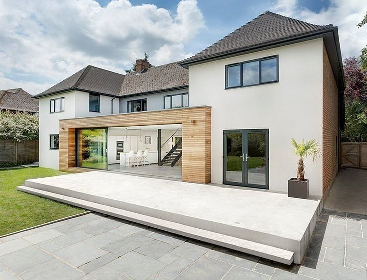 Image result for traditional wooden house modern extension ...