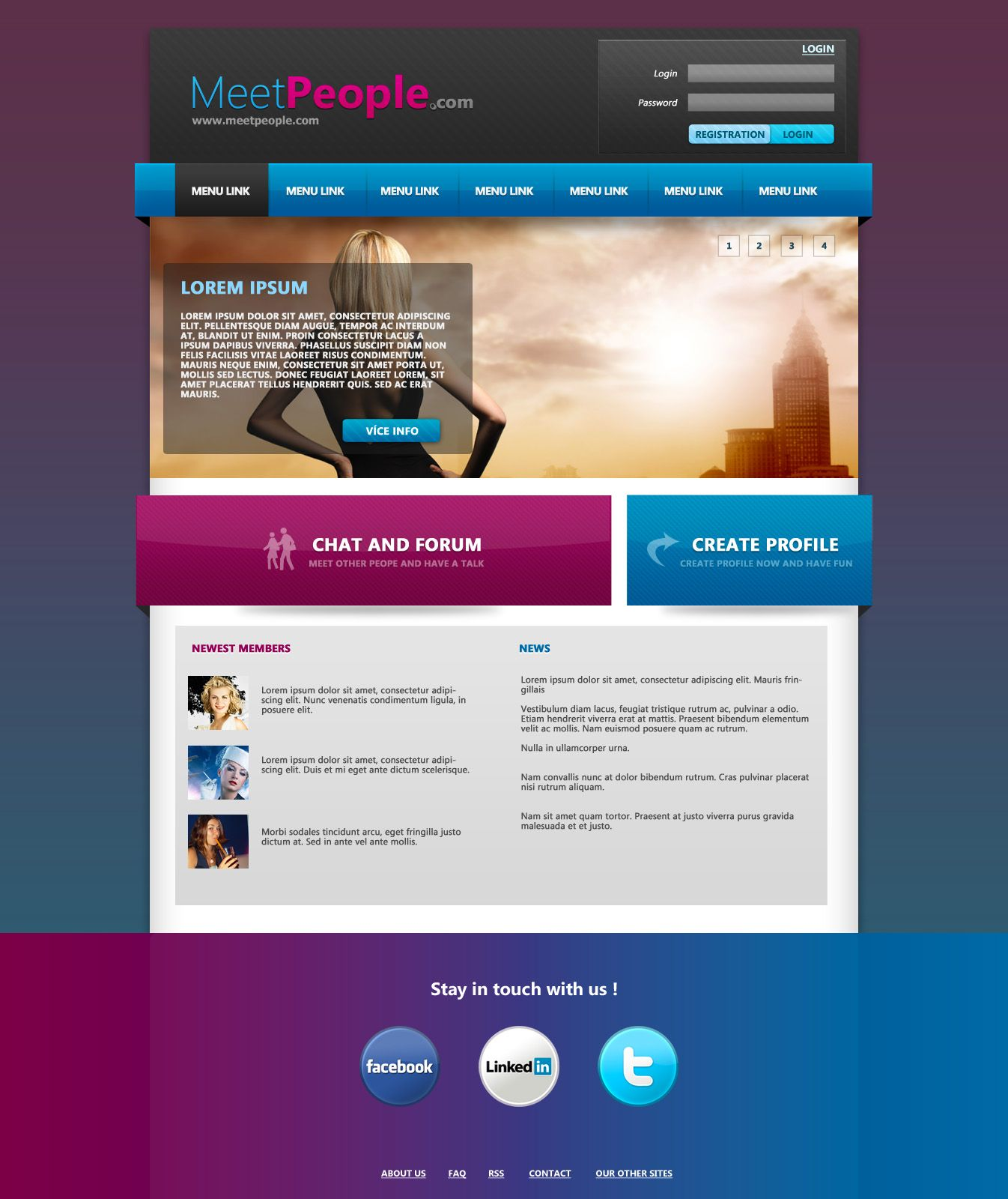 MeetPeople Web Template PSD by Martz90 #webdesign - More Web Ideas ...