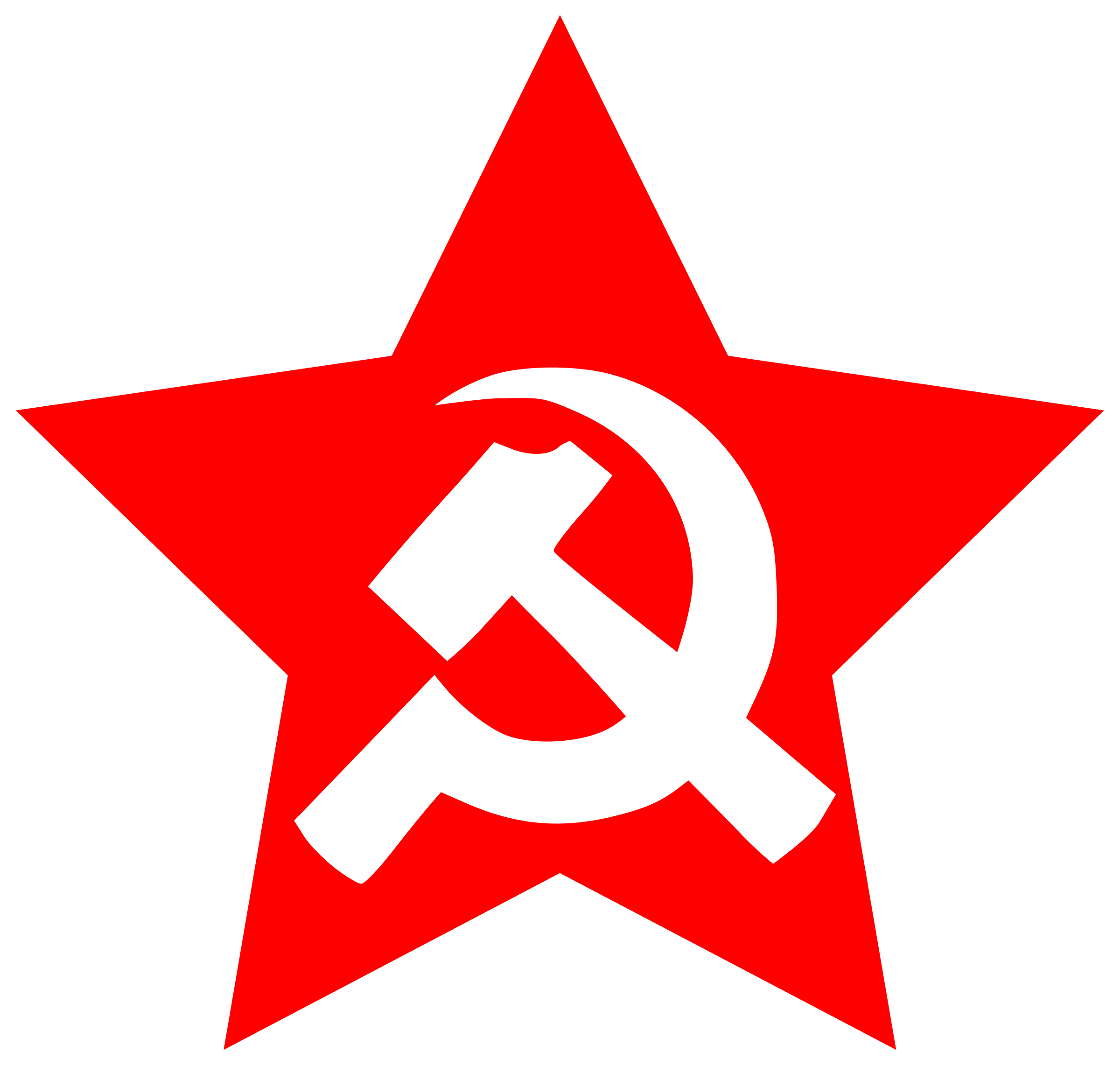 Hammer And Sickle In Star By At Worker Hammer And Sickle In Star On
