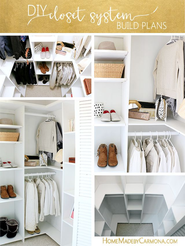 Attrayant Learn How To Build A Stunning Custom Closet System That Doesnu0027t Waste Any  Space! These Free Build Plans Are Perfect For Deep Closets That Are Not  Walk In.
