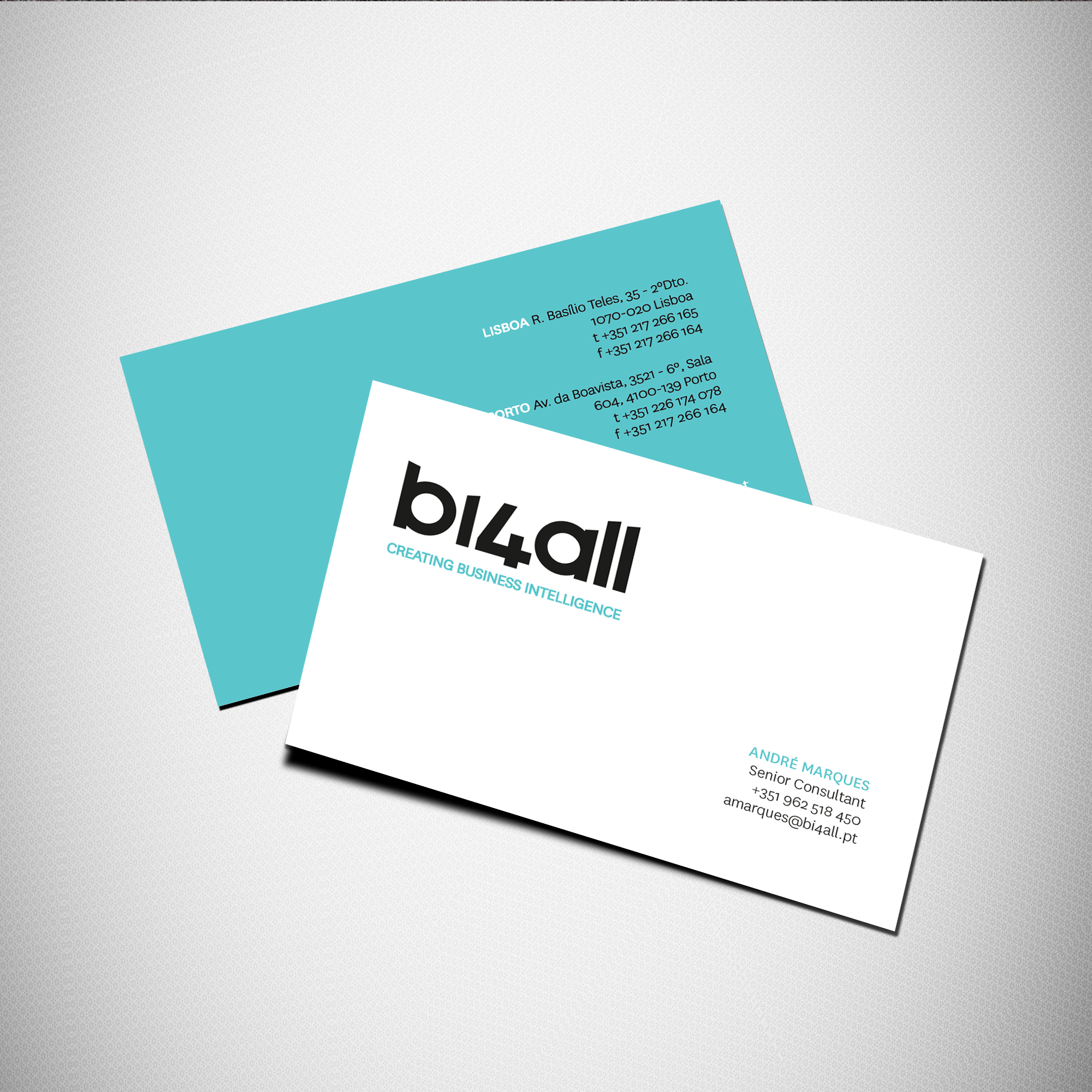 Business Card for BI4ALL #card #design #stationery | Sonia Silva\'s ...
