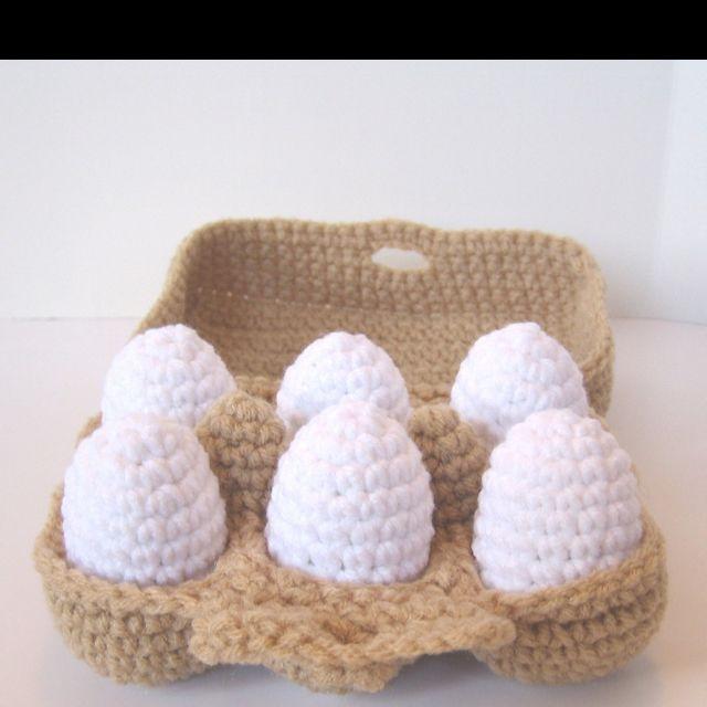 half dozen crocheted eggs kaufladen h keln. Black Bedroom Furniture Sets. Home Design Ideas
